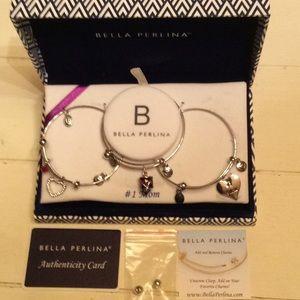 Bella Perlina Number 1 Mom Bracelet Set